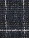 NY designer cotton/elastic gauzey windowpane woven
