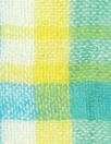 NY designer cotton gauze turquoise/lemon plaid