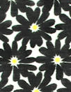 NY designer black/yellow floral cotton jacquard