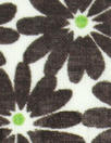 NY designer chocolate/lime floral cotton jacquard