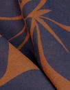 French chili/navy floral cotton blend jacquard