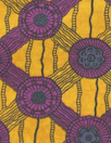 Italian cotton knit - African wax - citrine/plum