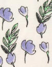 organic cotton jersey - little periwinkle flowers