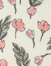 organic cotton jersey - little pink flowers