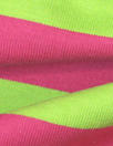 famous designer pink/lime wide stripe cotton knit
