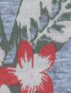 NY designer digital cotton knit - hibiscus