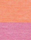 Italian pique stitch all cotton knit - pink/orange