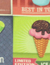 Dutch digital 'frozen treats' cotton/lycra knit