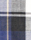 CA designer semi-sheer plaid cotton woven - navy