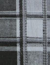 CA designer black/gray plaid cotton stretch shirting