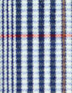 NY designer navy/brick yarn-dyed cotton stretch plaid