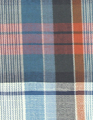Ni1i L0tan yarn dyed navy/rust plaid shirting