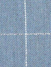 French chambray/metallic windowpane cotton blend shirting