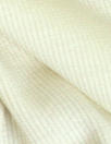 NY designer creamy ivory cotton 2x2 micro ribbed knit