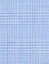 Italian blue micro-plaid yarn-dyed cotton shirting 1.875 yds