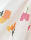 Caroline C0nstas little flowers on white cotton/silk voile