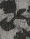 NY designer cotton embroidered crinkle silk - black