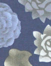 succulents 1 cotton/spandex shirting - blue