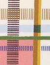 Italian cotton sateen stretch woven - modern plaid 1.5 yds