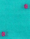Swiss turquoise with pink cotton swiss dot
