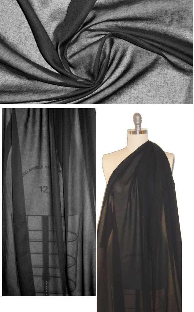 Image result for black sheer cotton fabric