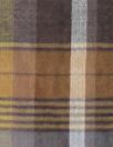 Italian acorn/slate/indigo plaid cotton voile