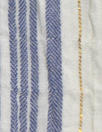 NY designer crinkle metallic stripe cotton - blue/white