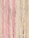 NY designer crinkle metallic stripe cotton - pink/ivory