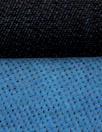 Italian doubleface cotton denim - azure/midnight
