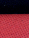 Italian doubleface cotton denim - coral red/black