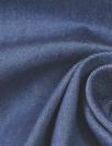 famous designer blue cotton blend stretch denim