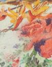 100% linen digital print - vintage floral
