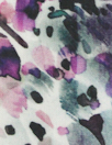 100% linen digital print - dusty teal/lilac