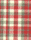 famous designer virgin wool doublecloth - red/loden check