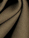 Italian wool doublecloth boho twill coating - cocoa