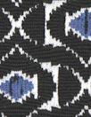 NY designer jacquard doubleknit - blue/black graphic