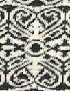 CA designer scroll jacquard doubleknit - black/white