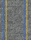 Italian wool blend doubleknit - dark gray/cobalt/yellow