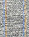 Italian wool blend doubleknit - light gray/cobalt/yellow