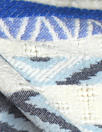 NY designer blue diamond novelty linen/cotton woven