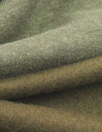 organic eco fleece-backed sweatshirt knit - olive