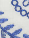 CA designer blue/white embroidered cotton eyelet