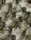 Italian sheer woven with lurex eyelash - antique bronze 1.66 yds
