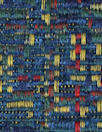 NY designer novelty weave cotton suiting - blue