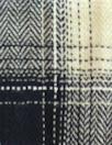 NY designer yarn-dye cotton plaid - navy/khaki/ivory