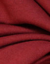 oeko-tex cert. bamboo/cotton fleece-back knit - persian red