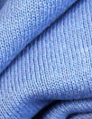 Oeko-Tex cert. bamboo/cotton fleece-back knit - French blue