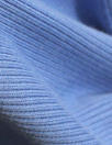 bamboo/cotton circular tube ribbing - french blue Oeko-Tex cert.