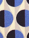 French cobalt graphic dot drapey viscose twill woven
