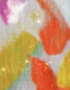 Italian colorful brushstroke floral sparkle 'fur' woven
